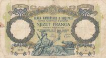 Albania 20 Franga ND1945 - Woman with sceptre, two-headed eagle - Serial P20