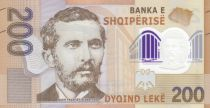 Albania 200 Lkeké - Naim Frasheri (1846-1900) - Polymer 2019 UNC
