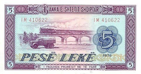 Albania 5 Leké Truck, viaduct