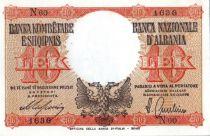 Albanie 10 Lek 1940, Aigle à 2 têtes