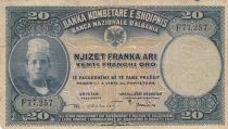 Albanie 20 Franga Ari ND1926 - Jeune garçon, paysage - F 77257