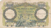 Albanie 20 Franga ND1945 - Femme au sceptre, aigle bicéphale - Série E11