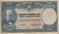 Albanie 20 Leke ND1926 - Jeune garçon, paysage - F 35636
