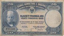 Albanie 20 Leke ND1926 - Jeune garçon, paysage - F 82626