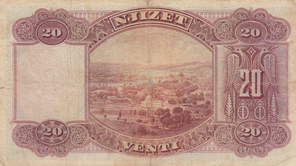 Albanie 20 Leke ND1926 - Jeune garçon, paysage - G 77425