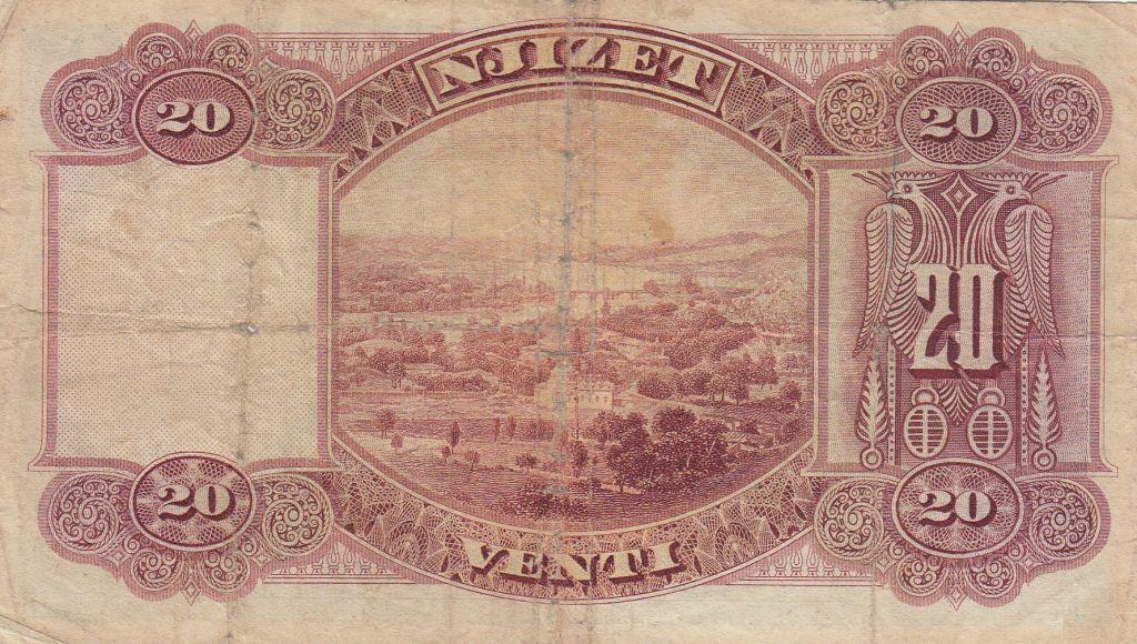 Albanie 20 Leke ND1926 - Jeune garçon, paysage - H 20408