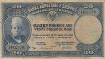 Albanie 20 Leke ND1926 - Jeune garçon, paysage - H 62936