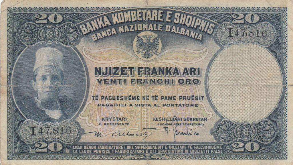 Albanie 20 Leke ND1926 - Jeune garçon, paysage - I 47816