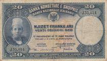 Albanie 20 Leke ND1926 - Jeune garçon, paysage - J 55414