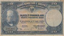 Albanie 20 Leke ND1926 - Jeune garçon, paysage - J 89490