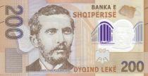 Albanie 200 Lkeké - Naim Frasheri (1846-1900) - Polymer 2019 Neuf