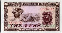 Albanie 3 Leké - Ramassage de raisins - Village - 1964