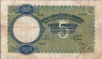 Albanie 5 Franka Ari 1939, Aigle à 2 têtes