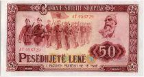 Albanie 50 Leké - Soldats et Parade - 1964
