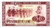 Albanie 50 Leké - Soldats et Parade - 1976