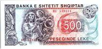 Albanie 500 Leké - Paysanne et Tournesol - 1991