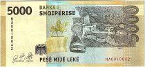 Albanie 5000 Leké - Skenderbeu (1405-1468) - 2019 Neuf
