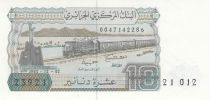 Algeria 10 Dinars 02-12-1983 - Train, Moutain village