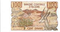Algeria 100 Dinars  - Farmer, deer - 1970