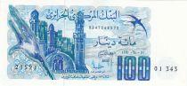 Algeria 100 Dinars 01-11-1982 - Minaret, village, swallow