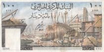 Algeria 100 Dinars Alger harbor - 1964 - VF to XF - P.125