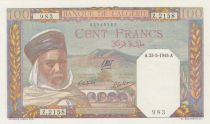 Algeria 100 Francs  Algerian with turban - 1945 - UNC - P. 85 Serial Z.2158