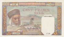 Algeria 100 Francs  Algerian with turban - 1945