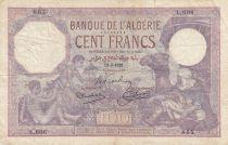Algeria 100 Francs Boys, Camel driver - 12-03-1928 - Serial L.606