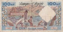 Algeria 100 NF Sea gulls, harbor -  31-07-1959 - VG to F - Serial Y.3 - P. 121