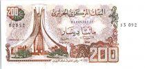 Algeria 200 Dinars  - Martyrs monument,  Constantine -1983
