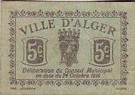 Algeria 5 cent. Alger
