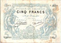 Algeria 5 Francs Mercury & Peasant - 1924