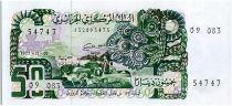 Algeria 50 Dinars  - Shepherd, tractor  - 1977