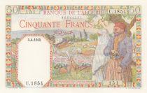 Algeria 50 Francs  -  03-04-1945 - Serial  U.1854 UNC