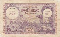 Algeria 500 Francs 1944 - Young boys, camel - 15-09-1944 Serial E.362