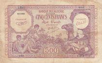 Algeria 500 Francs 1944 - Young boys, camel - 15-09-1944 Serial G.218
