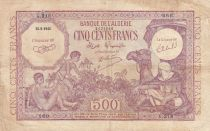 Algeria 500 Francs 1944 - Young boys, camel - 15-09-1944 Serial G.218