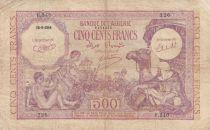 Algeria 500 Francs 1944 - Young boys, camel - 15-09-1944 Serial P.340