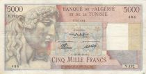 Algeria 5000 Francs Apollo - Triomphal arch of Trajan - - 10-10-1949 -  Serial V.192