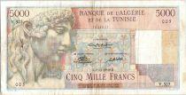 Algeria 5000 Francs Apollo - Triomphal arch of Trajan -  V.305  - 1949