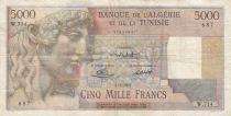 Algeria 5000 Francs Apollo - Triomphal arch of Trajan - 02-01-1951 -  Serial W.714