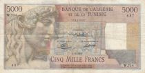 Algeria 5000 Francs Apollo - Triomphal arch of Trajan - 02-01-1951 -  Serial W.714