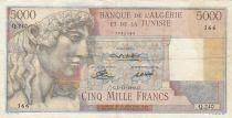 Algeria 5000 Francs Apollo - Triomphal arch of Trajan - 02-11-1949 -  Serial Q.240