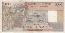 Algeria 5000 Francs Apollo - Triomphal arch of Trajan - 03-08-1950 -  Serial B.623