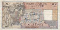 Algeria 5000 Francs Apollo - Triomphal arch of Trajan - 07-09-1950 -  Serial B.626