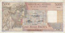 Algeria 5000 Francs Apollo - Triomphal arch of Trajan - 10-04-1951 -  Serial P.783