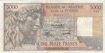 Algeria 5000 Francs Apollo - Triomphal arch of Trajan - 11-09-1950 -  Serial J.638