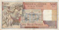 Algeria 5000 Francs Apollo - Triomphal arch of Trajan - 13-02-1950 -  Serial X.450