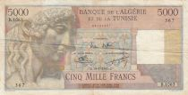 Algeria 5000 Francs Apollo - Triomphal arch of Trajan - 14-01-1953 -  Serial B.1063