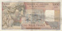 Algeria 5000 Francs Apollo - Triomphal arch of Trajan - 16-04-1951 -  Serial K.787